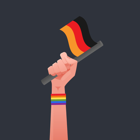sexuality: Germany flag & Sexuality symbol Illustration