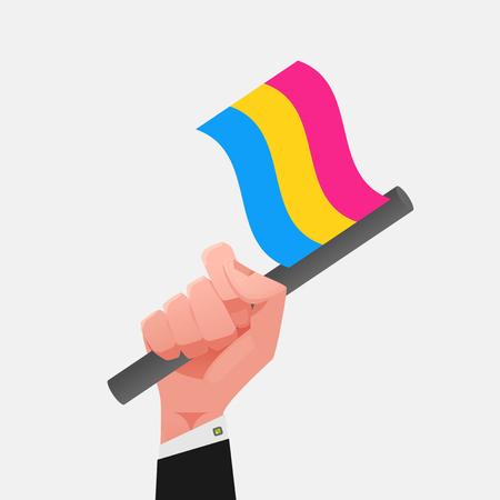 sexualidad: Bandera de pansexualidad Vectores