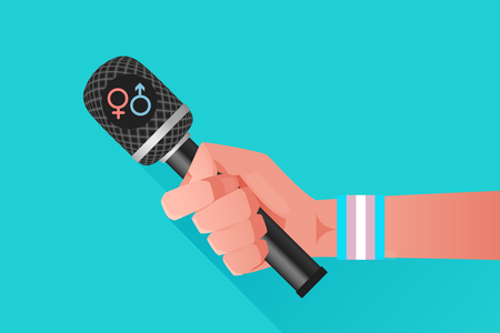 transexual: Ilustración del micrófono Vectores