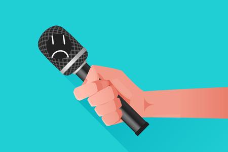 bad news: Microphone illustration