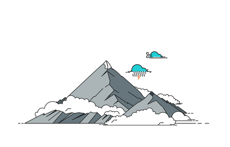 hiking: Mountain vector illustration