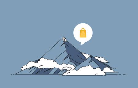Mountain vector illustration