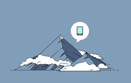 peaks: Mountain vector illustration