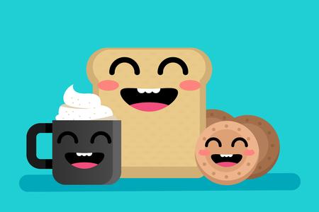 joyful: Happy breakfast