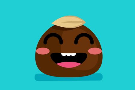 joyful: cute chocolate Illustration