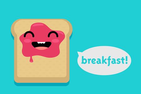 joyful: cute toast