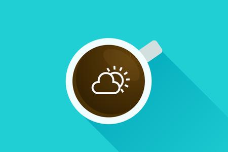 top menu: Coffee & sun icon