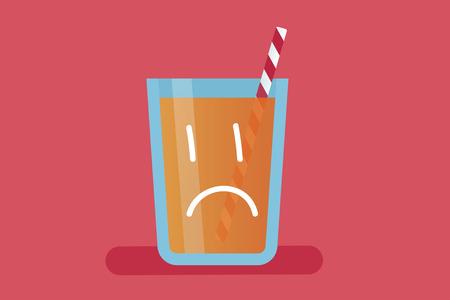 Orange juice vector illustration Illustration
