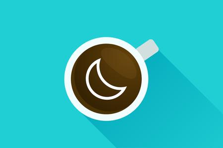 fresh idea: Coffee & moon icon