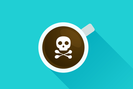 radioactive sign: Deadly coffee