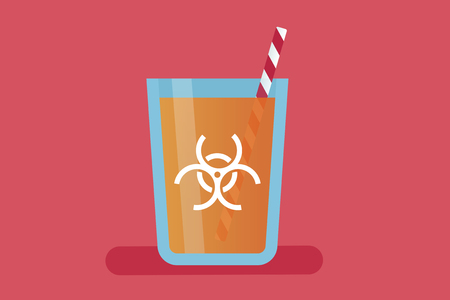 illustration infected: Orange juice vector illustration: contamination