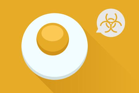 Bad radioactive eggs Illustration