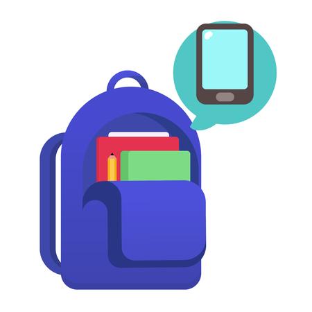School bag vector illustration
