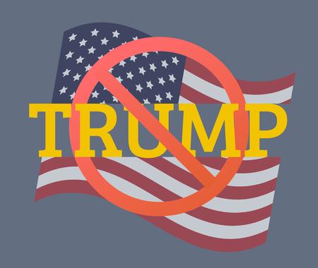 USA flag vector illustration: Trump concept Illustration