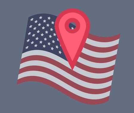 Illustration vectorielle de drapeau USA Banque d'images - 91476431