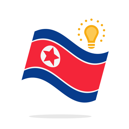 North Korea Flag vector illustration