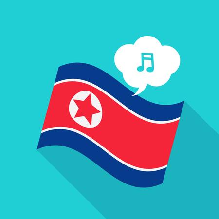 North Korea Flag vector illustration: Social media