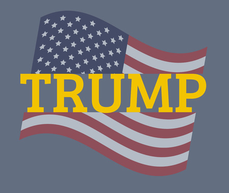 USA flag vector illustration: Trump concept Illustration