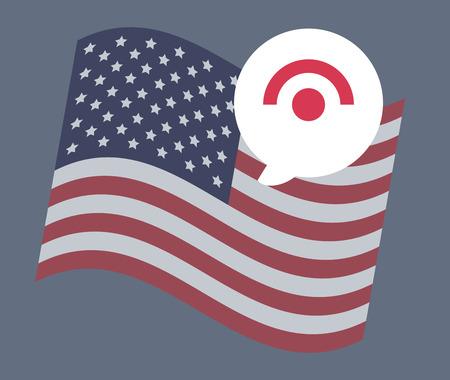 USA flag vector illustration: Connection