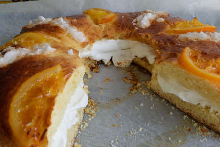 typical: Typical Spanish dessert xmas Stock Photo