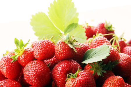 harvested: freshly harvested strawberries - healthy lifestyle with fruit