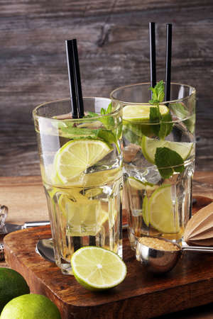 Lemon Fruit Lime Caipirinha of Brazil Stock Photo