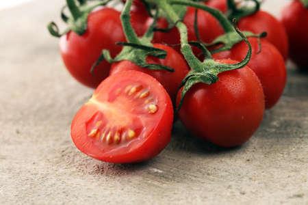 Ripe tasty red tomatoes. Village market organic tomatoes. Fresh tomato.