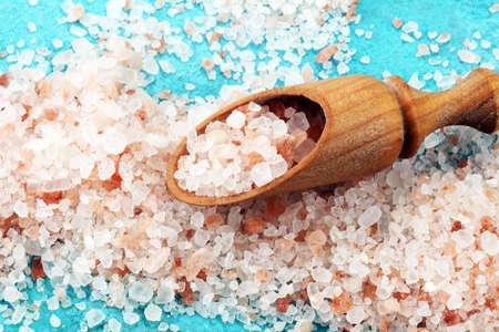 Pink salt from the Himalayas. Himalaya sea salt