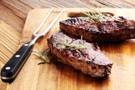 Barbecue Rib Eye Steak or rump steak - Dry Aged Wagyu Entrecote Steak