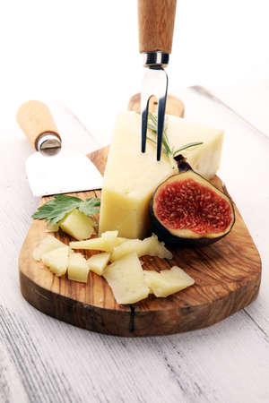 piece of parmesan cheese. fresh traditional italian cheese