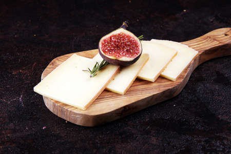 raclette cheese sliced. Very delicious swiss raclette