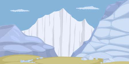 Ice mountain, eps10 vector illustration