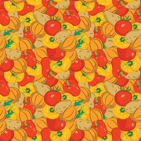 seamless pattern with vegetables for the kitchen, vector illustration Stock Vector - 24542818