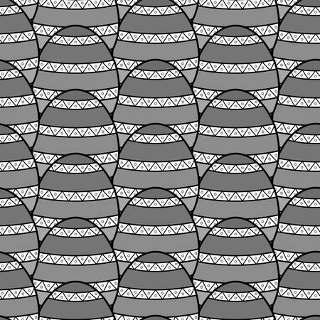 gray scale: Tile with stripes in gray scale colors, illustration