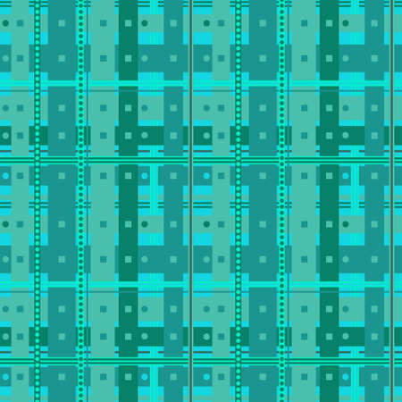 Abstract seamless pattern with aquamarine cells