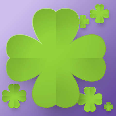 fourleaf: Abstract four-leaf clover on purple