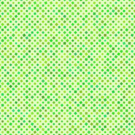 Abstract pattern with clover on light green background, vector illustration Vector