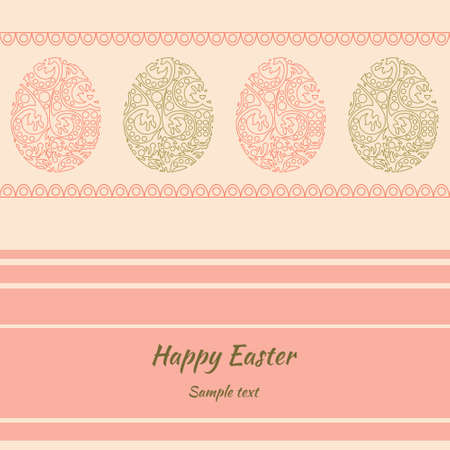 Easter greeting card with the background in pastel colors Vector