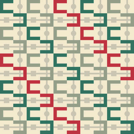 Seamless pattern with abstract geometric lines, vector background Vector