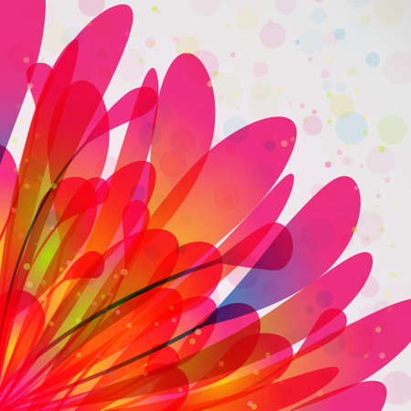 Abstract colorful background with leaves and pollen Vector