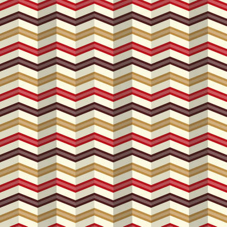 pleat: Seamless zigzag pattern with a rippled effect on a light background Illustration