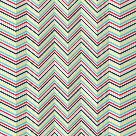 Seamless zigzag pattern of jagged stripes on bright background