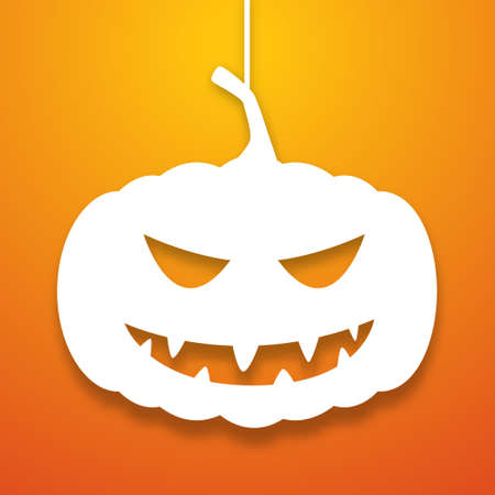 Halloween pumpkin applique background. Vector illustration icon for your halloween party design Vector