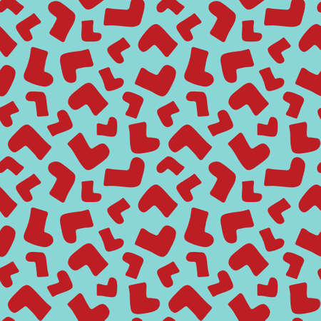 Seamless background pattern with red socks, vector illustration Vector