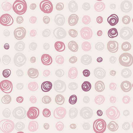 Seamless pattern with colorful swirls on bright background Vector