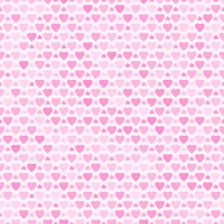 Seamless pattern with pink hearts, vector background Vector