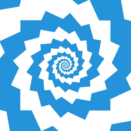 extra sensory perception: Abstract swirl background in opt art style, vector illustration Illustration