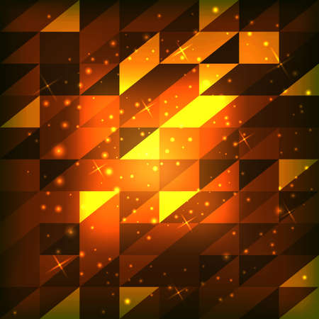 Abstract background of squares with triangles. Vector illustration