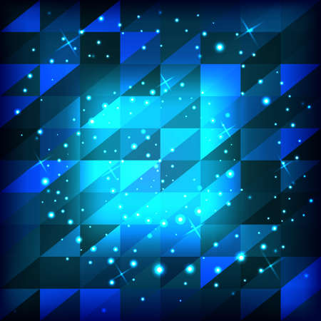 Abstract blue background of squares with triangles. Vector illustration Illustration