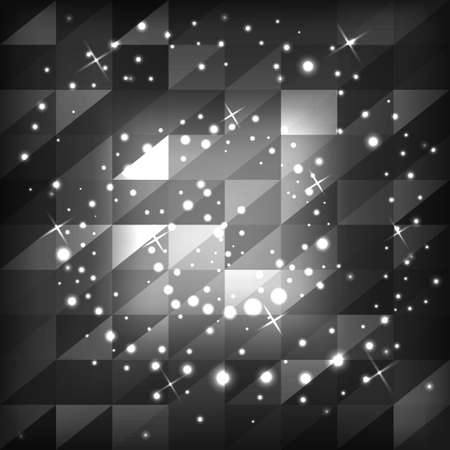 Abstract gray background of squares with triangles.